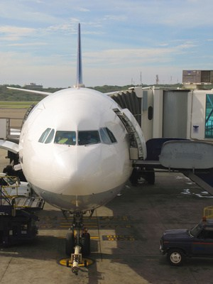 Flugzeug vor dem Abflug