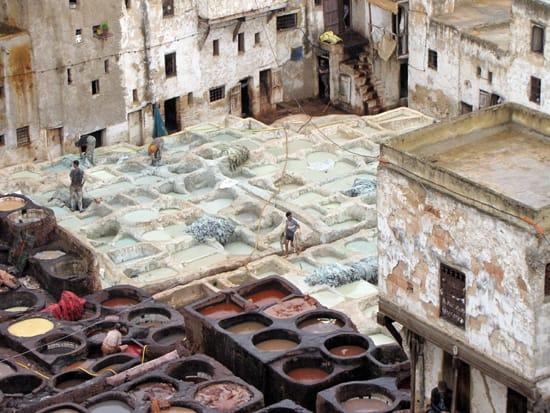 Eine Gerberei in Marokko.