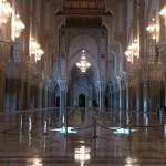 Ein Blick in die Moschee Hassan II.