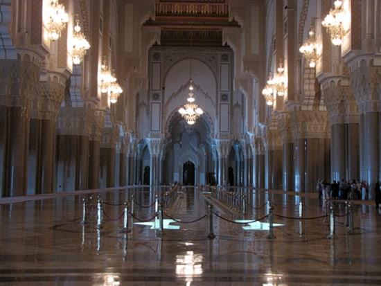 Einblick in die Moschee Hassan II.