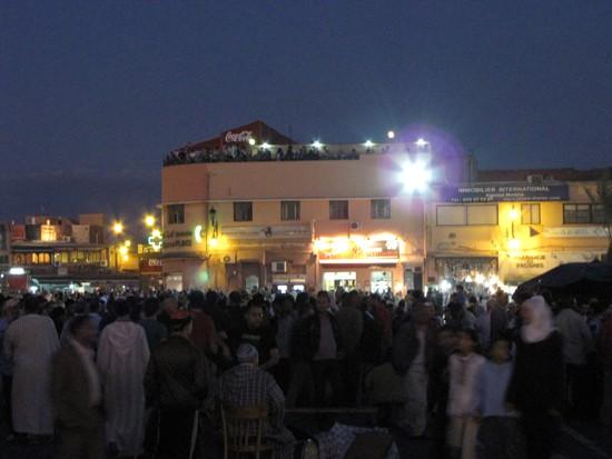 Der Platz Djeemal El Fna in Marrakesch.