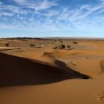 Unendliche Weiten in der Wüste Erg Chebbi.